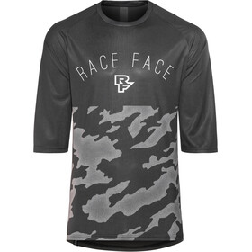 Race Face Ambush Kortärmad cykeltröja Herr grå/svart